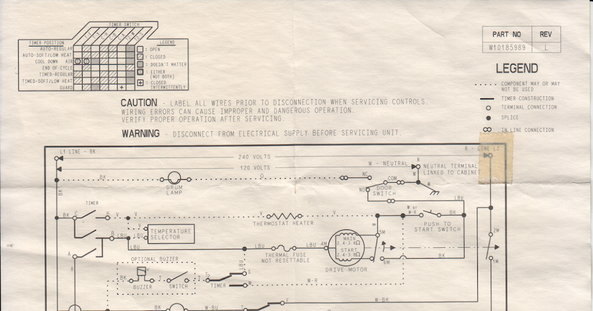 Wiring Diagram For Whirlpool, Wiring Diagram For Maytag Dryer