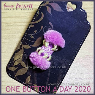 One Button a Day 2020 by Gina Barrett - Day 122 : Froufrou