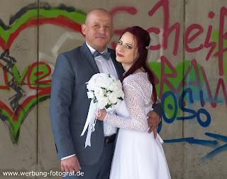 Lostplace Brautpaar Shooting Osnabrück Rubbenbruchsee