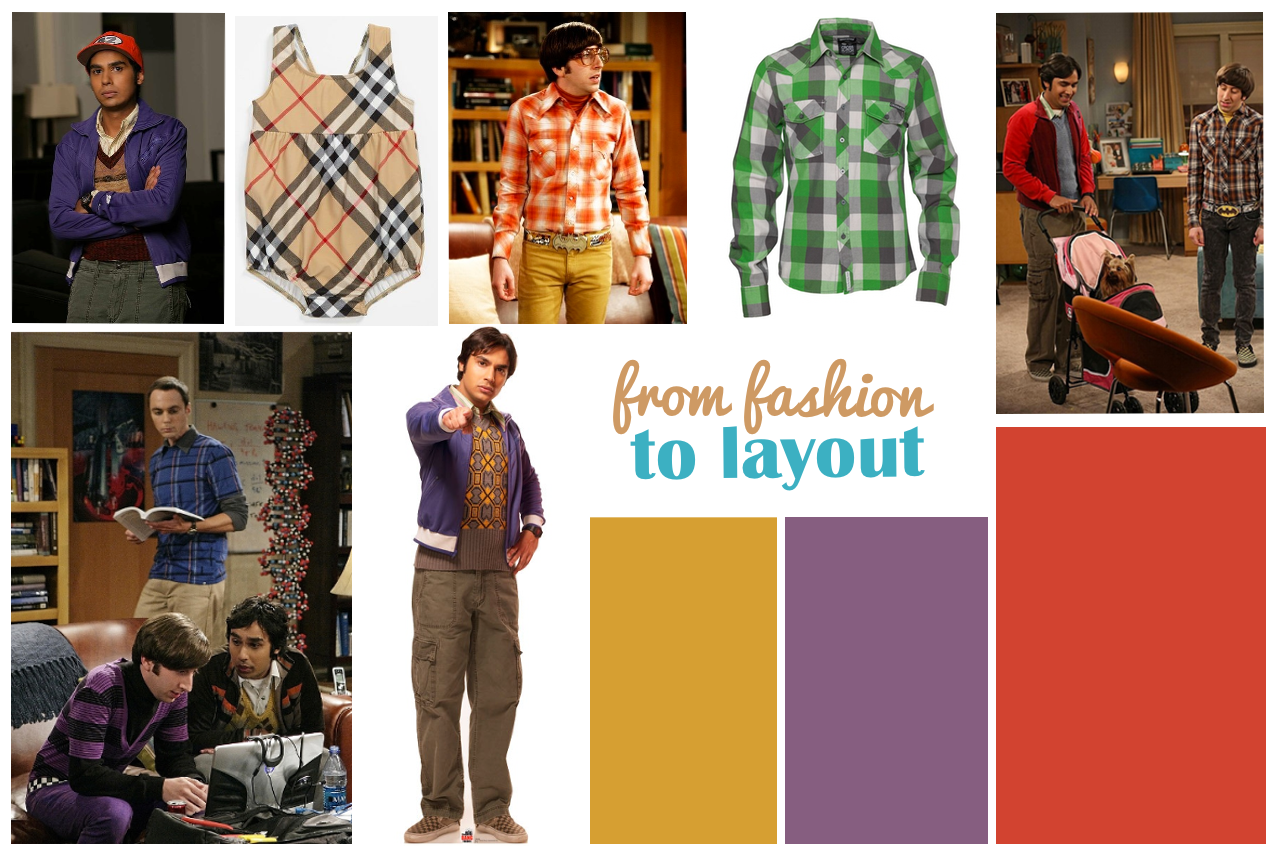 Von Fashion zu Layout - das Big Bang Theory Moodboard - Janna Werner