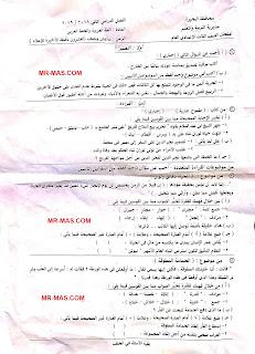 امتحان اللغة العربية الترم التاني 2019 البحيرة 1