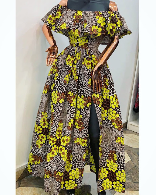 2019 Ankara Long Gown Styles for Special Events