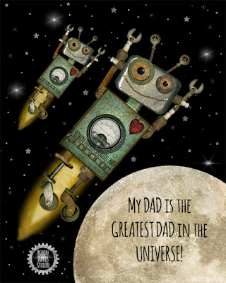 Greatest Dad Print by Robin Davis Studio
