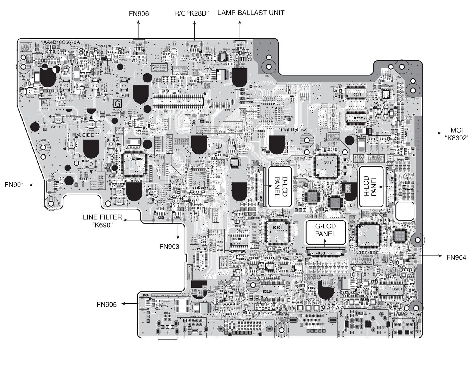 sanyo power supply wiring diagram sanyo plc xu87 projector - power supply - schematic ... k40 power supply wiring diagram