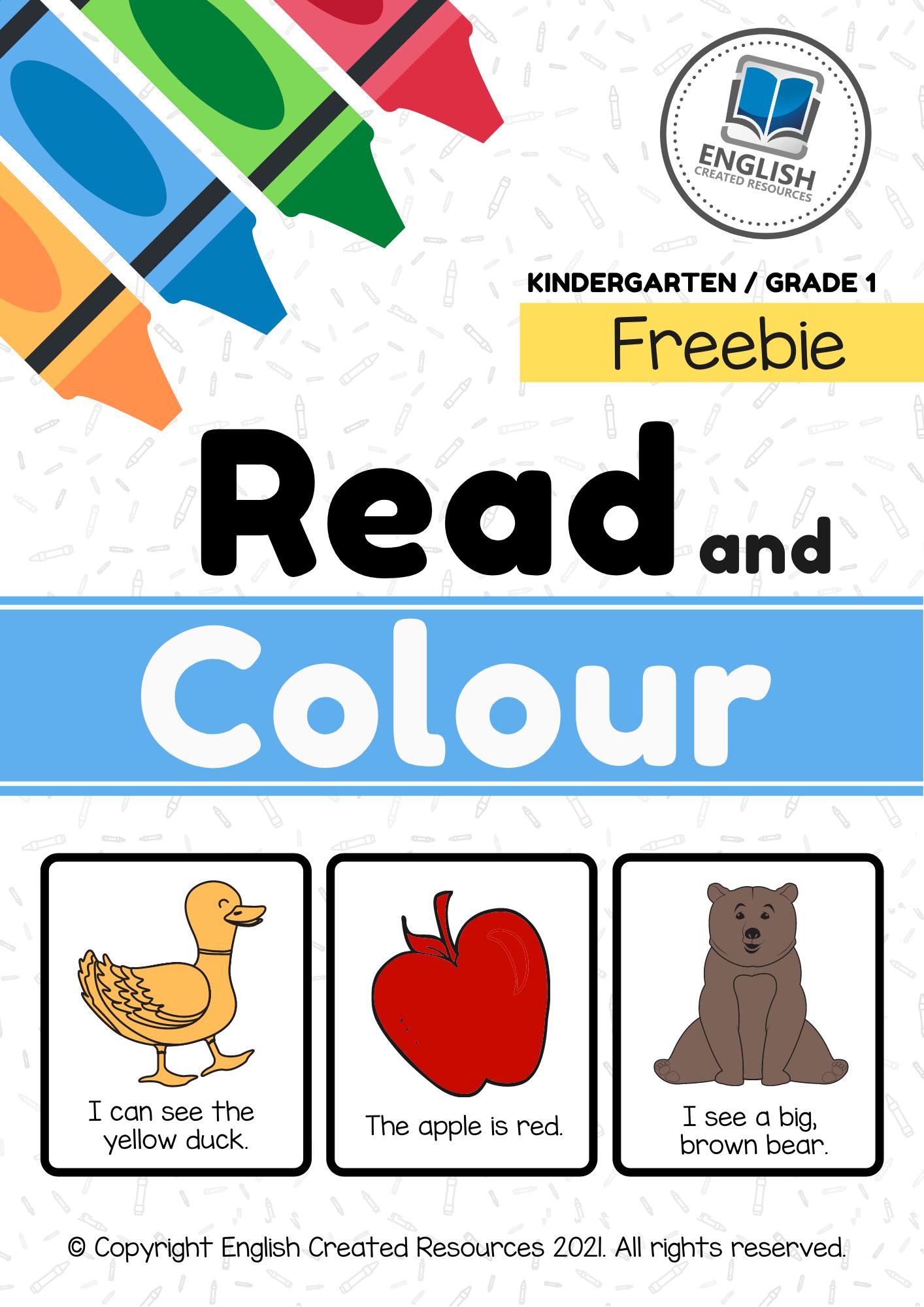 medium resolution of Read and Colour Worksheets KG \u0026 Grade 1