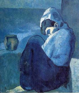 Пабло Пикассо. Сгорбившаяся женщина. 1902