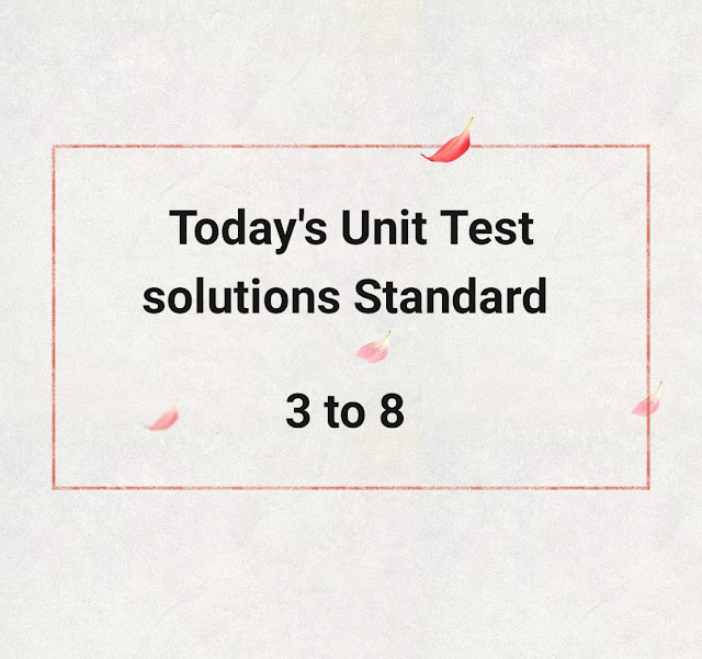 Today's Unit test Solutions