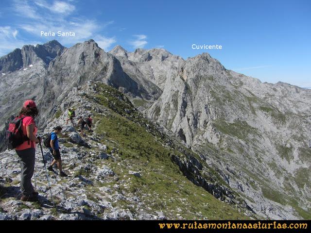Ruta Ercina, Jultayu, Cuvicente: Arista del Jultayu al Cuvicente