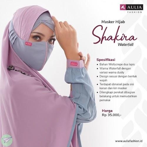 masker hijab aulia shakira waterfall