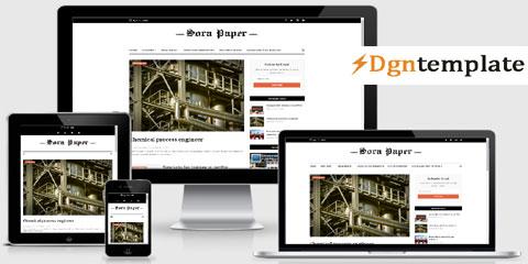 SoraPaper Responsive Blogger Template-dgntemplate