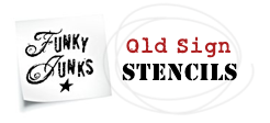 old sign stencil logo