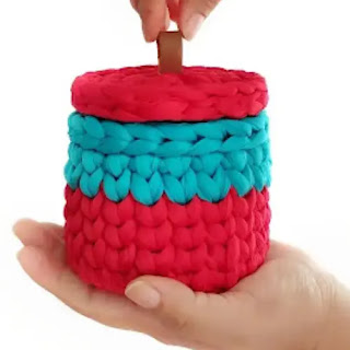 Joyero en Trapillo a Crochet