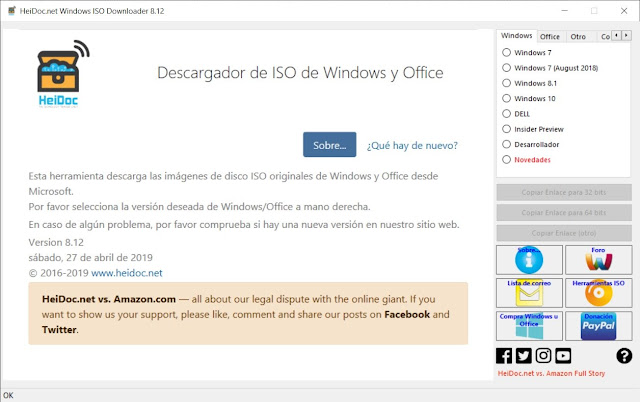 Microsoft Windows and Office ISO Download Tool imagenes