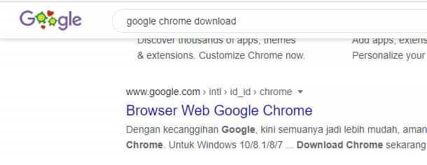 download google chrome di laptop