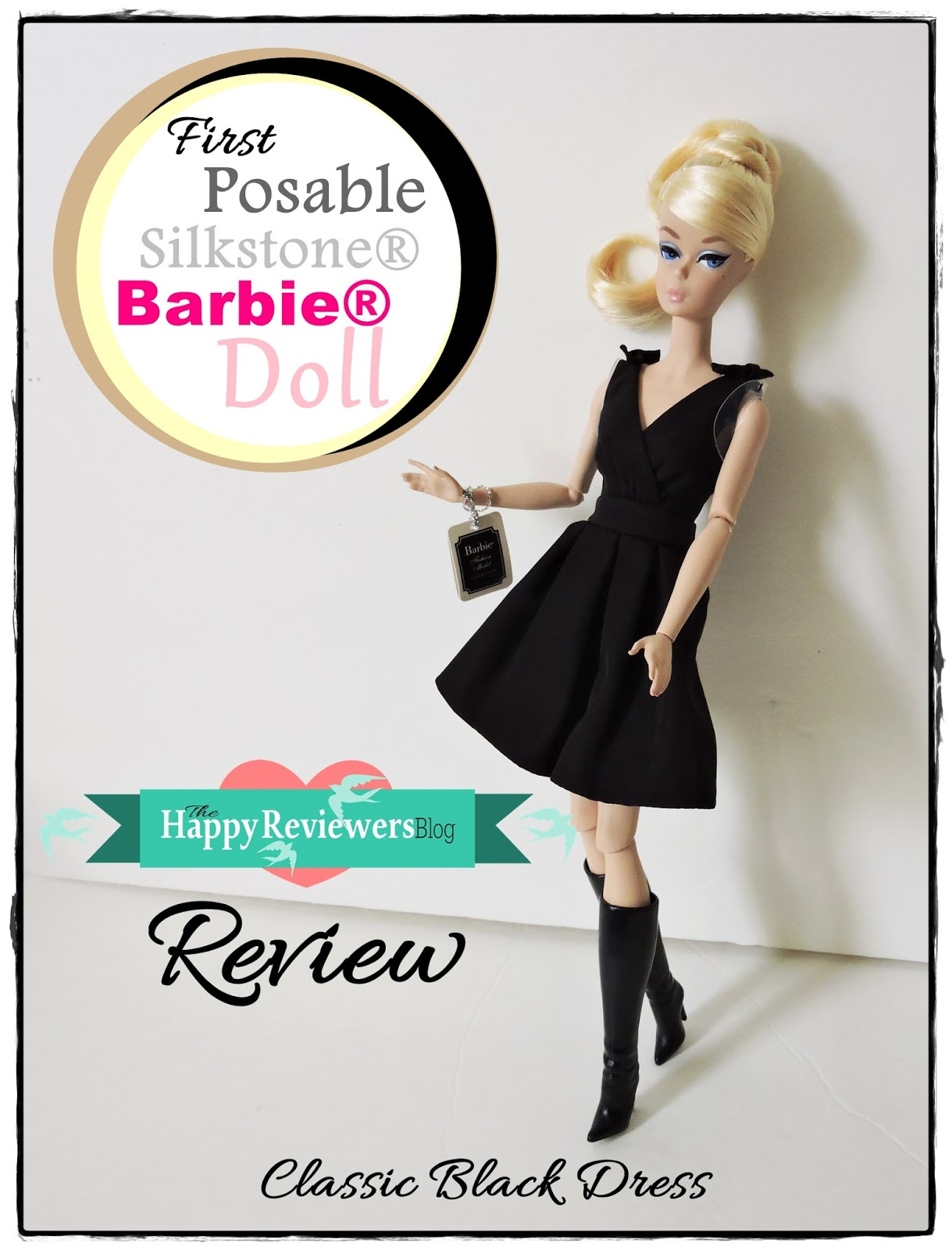 BARBIE SILKSTONE DOLL CLASSIC BLACK DRESS /& BOOTS ONLY