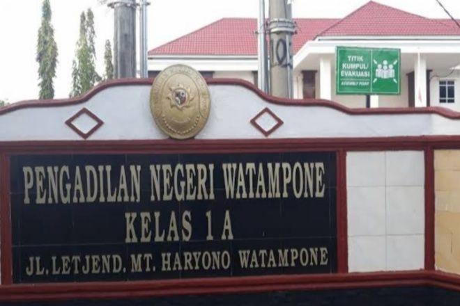 Ketua dan Pegawai Positif Covid, Pengadilan Negeri Watampone Ditutup Total