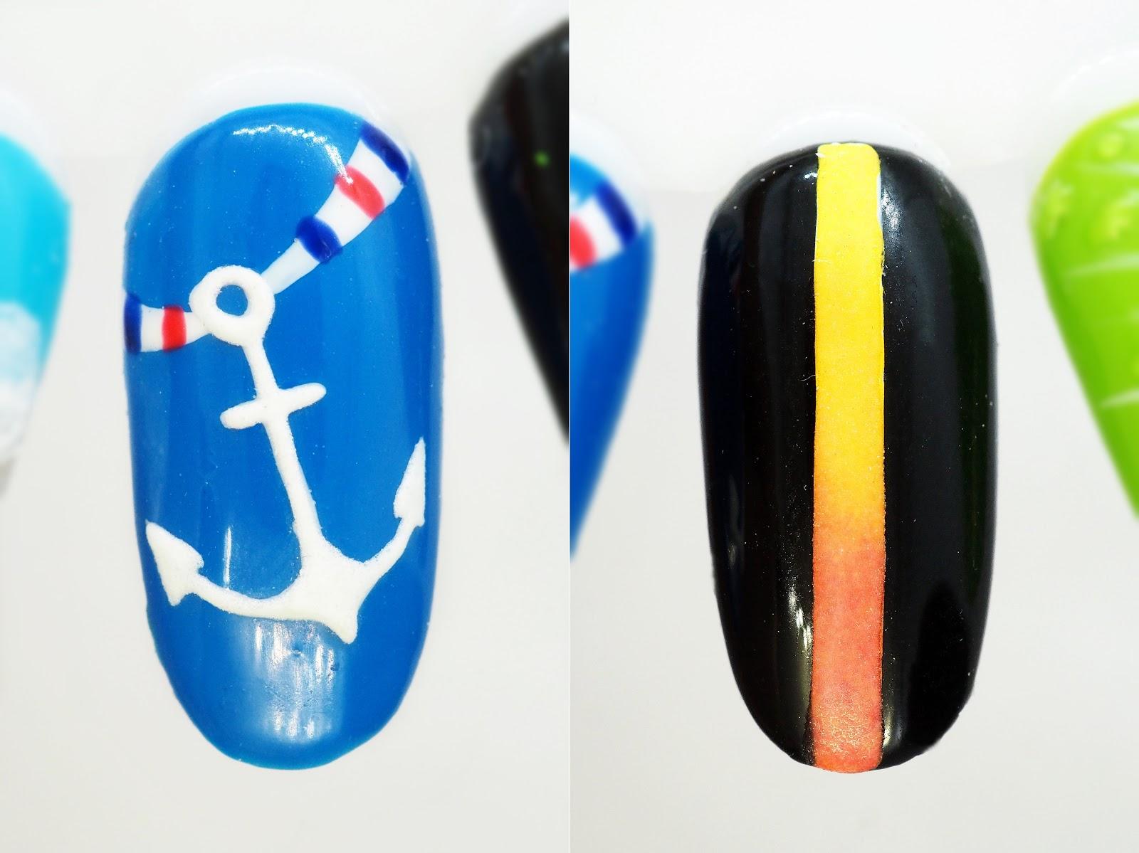 paznokcie nad morze