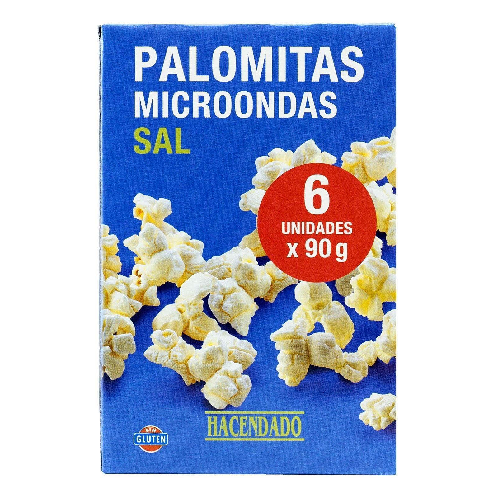Palomitas de maíz con sal para microondas Hacendado