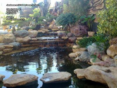 Taman relief air terjun dan kolam koi jasataman co id