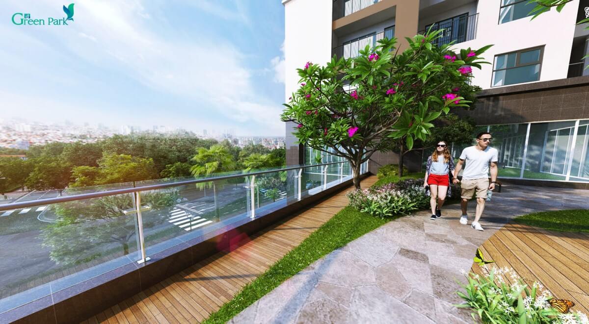 Vườn trên mái chung cư Phương Đông