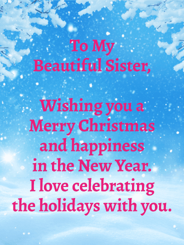 merry christmas quotes for special sister