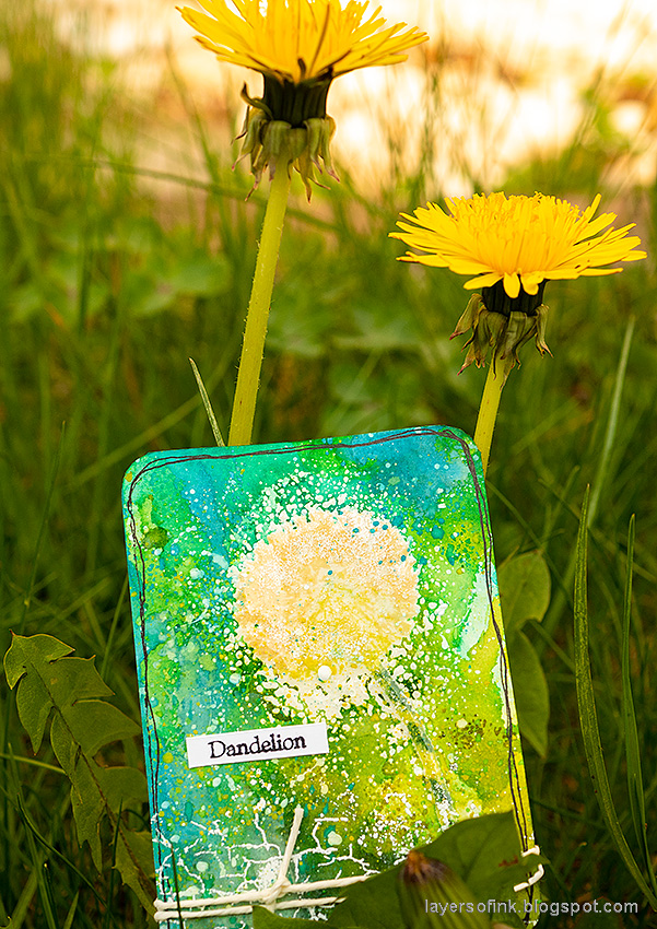 Layers of ink - Wildflowers Artist Trading Cards Tutorial by Anna-Karin Evaldsson. With Simon Says Stamp Laugh In Flowers stamp set. Queen Anne's Lace.