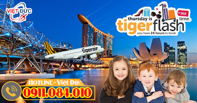 vé khuyến mãi Tiger Flash đi Singapore chỉ 50 USD