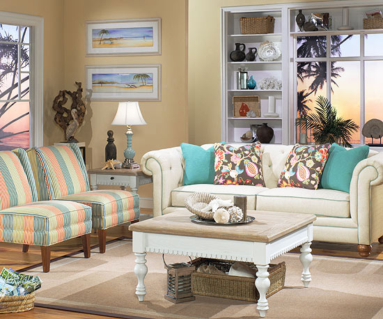 Gilpin Living Room Never A Dull Moment With This Brightly Colored Collection Lots Of Details To Take In For Starters Notice The Tufted Rolled Arms And