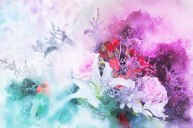 أجمل لوحات الزهور والورد