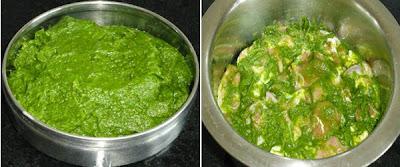 mutton marinated with green masala