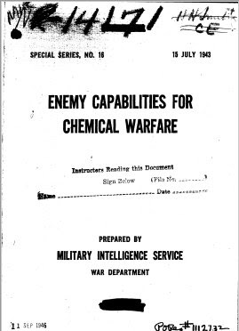 Enemy Capabilities for Chemical Warfare