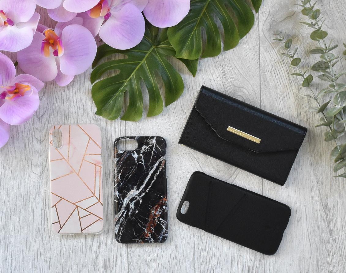 Stylischer Schutz fürs Handy - Handyhüllen iPhone 6s und iPhoneXs - Marmor Leder Roségold