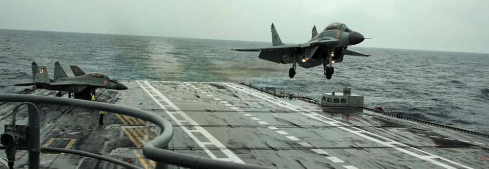 В індії потонув палубний винищувач Міг-29К