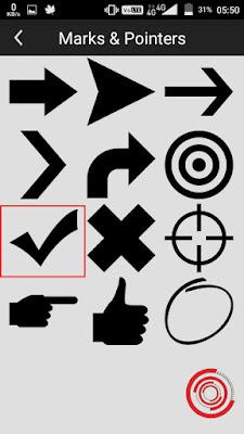 5. Kemudian pilih simbol centang atau ceklis. Jika tidak muncul silakan hubungkan ke koneksi internet terlebih dahulu