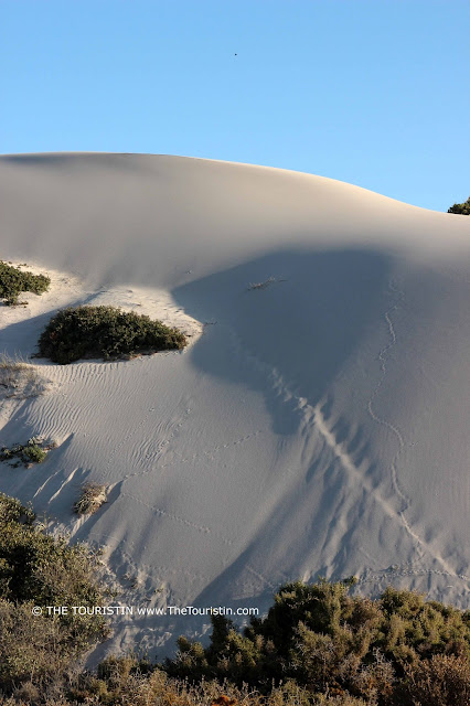 White high dunes under a blue sky