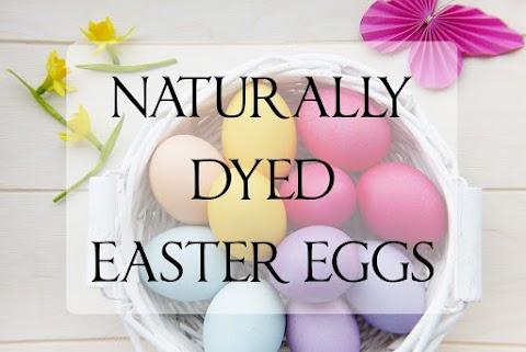 Πασχαλινά αυγά με βαφές από την φύση