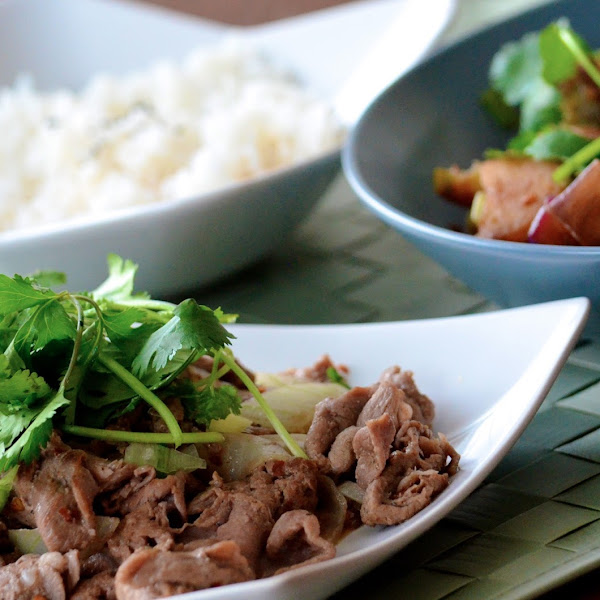 Spicy Sichuan-Style Lamb with Cumin and Sichuan Eggplant Stir-Fry