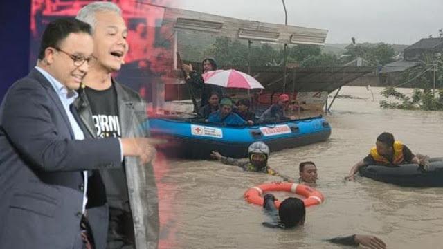 Semarang Lumpuh Akibat Banjir, Warganet Ramai-ramai Salahkan Anies