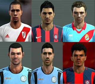 Faces: Claudio Bieler, Bottinelli, Maidana, Nicolas Blandi, Pedro Franco, Pier Barrios, Pes 2013