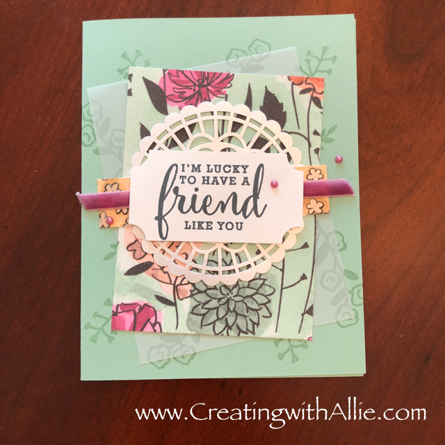 Card using Share what you love Bundle