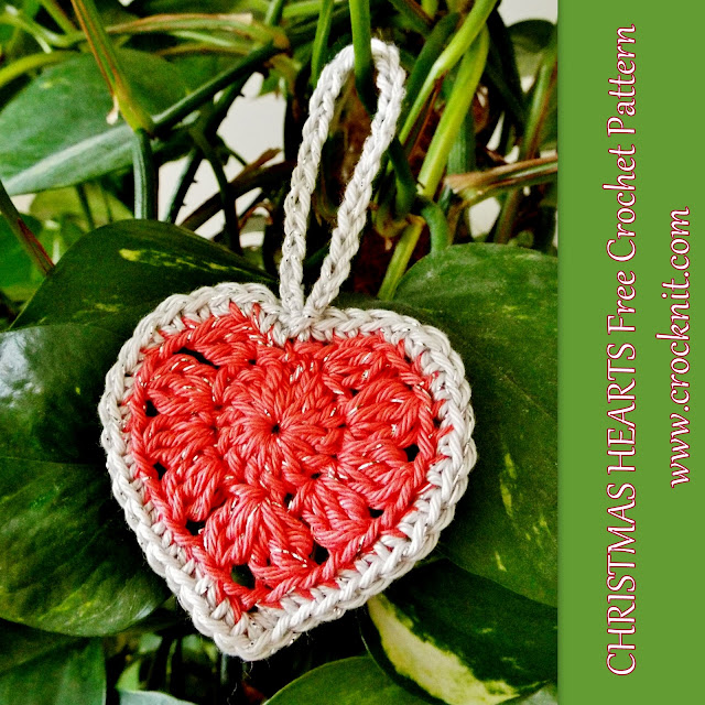 how to crochet, free crochet patterns, hearts, christmas hearts, valentines, sweet hearts, love hearts,