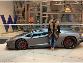 Ex Nigerian striker, Obafemi Martins Acquires New Ferrari Spider