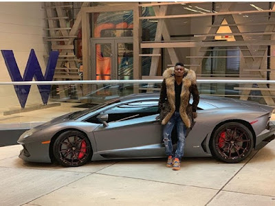 Ex Nigerian striker, Obafemi Martins Acquires New Ferrari Spider