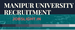 Manipur University Recruitment 2017