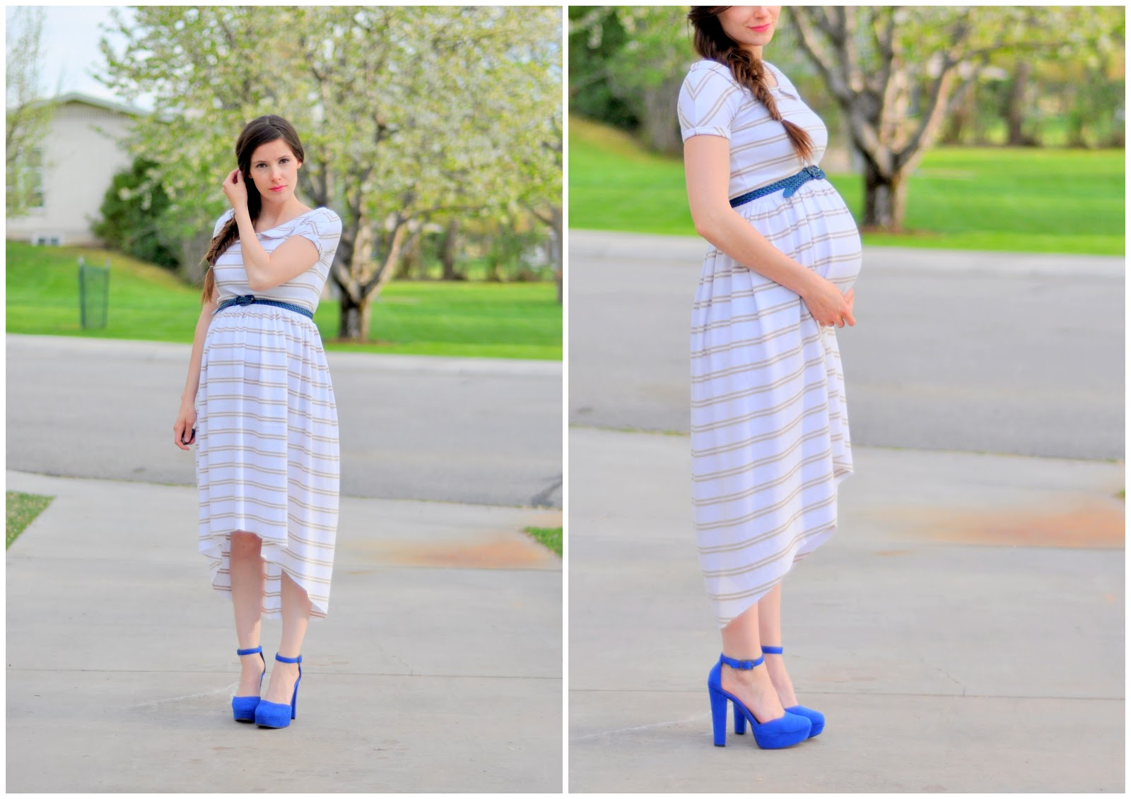 Diy Maternity Clothes Maternity Striped Knit Dress Diy Maternity