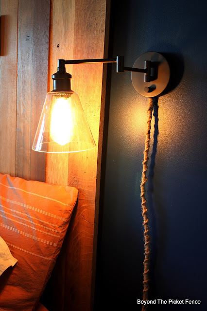 Bedside Lights and How to Macramé Cord Covers