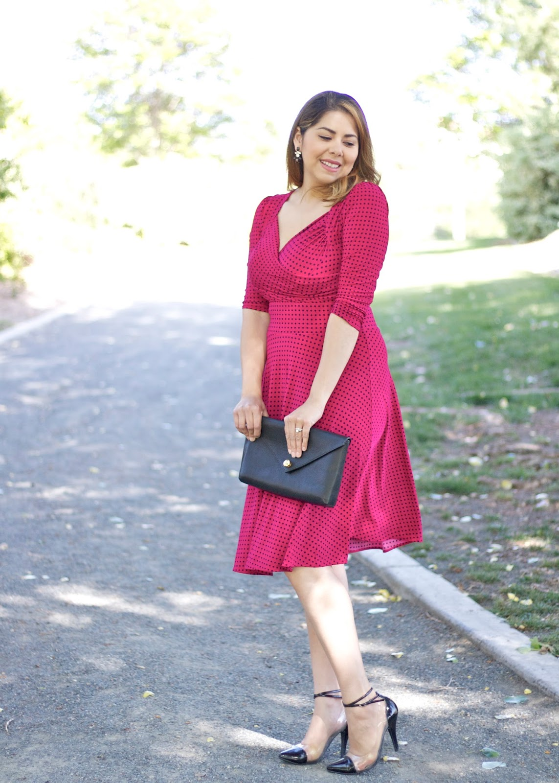 Polka dot dress, mexican fashion blogger, san diego style, california blogger