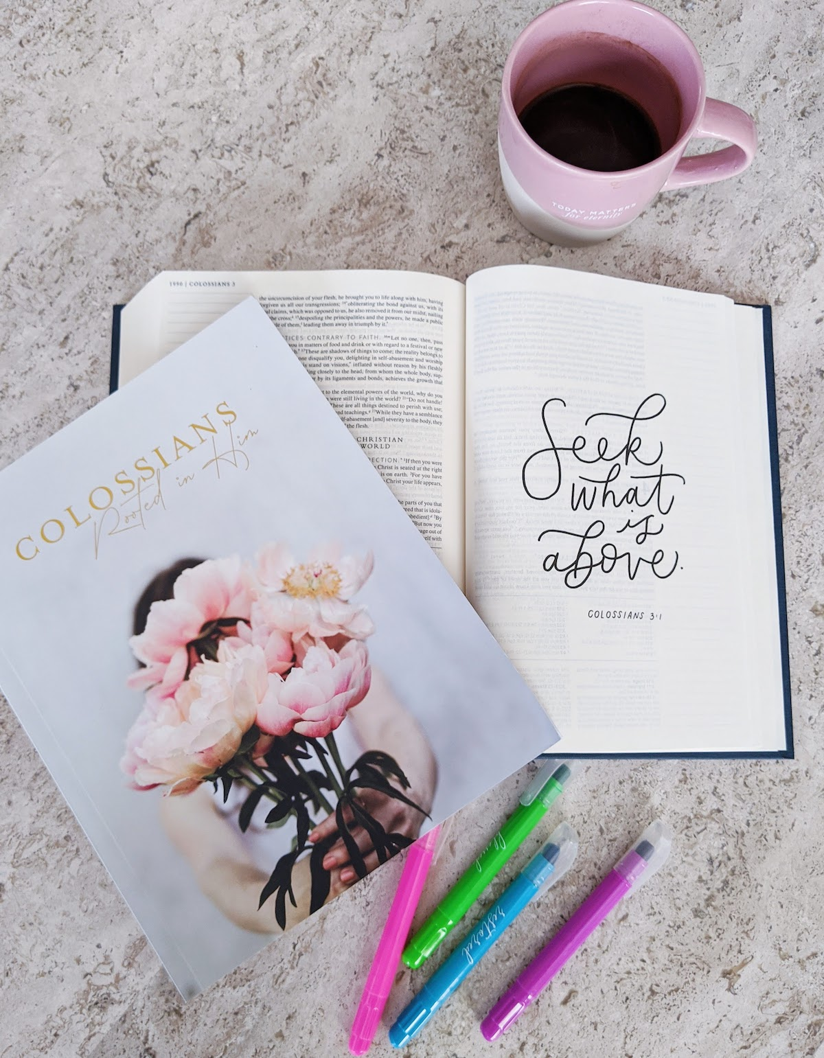 colossians study guide coffee