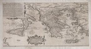 Görögország történelmi térkép [1614]