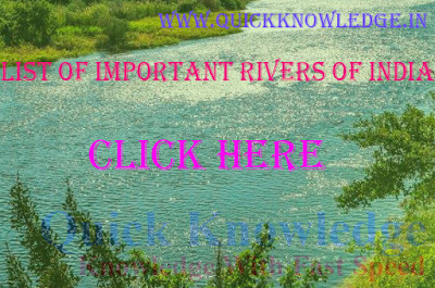 List of important rivers of India